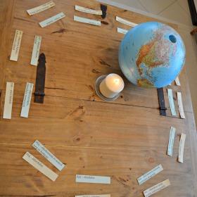 Samu születésnapi asztala